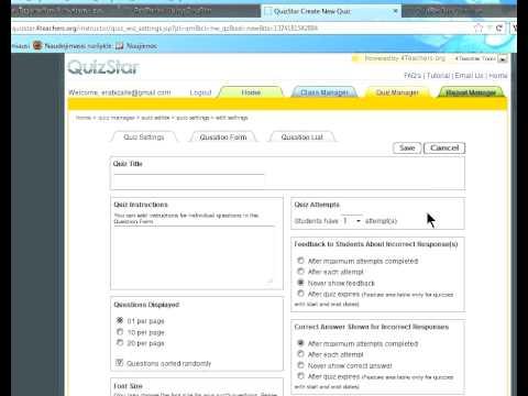 Testų kūrimas su QuizStar 4 teachers