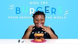 Kids Try Burgers from Around the World | Kids Try | HiHo Kids