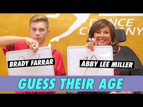 Abby Lee Miller Vs. Brady Farrar - Guess Their Age