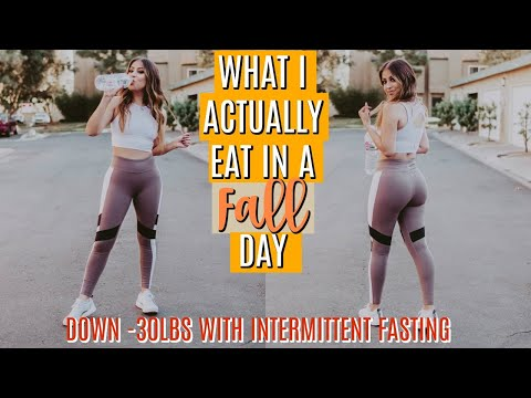 WHAT I EAT in a DAY: FALL 2018 INTERMITTENT FASTING