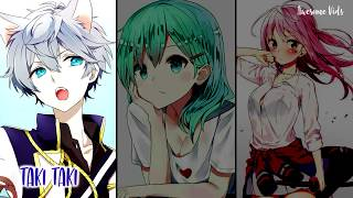Nightcore - Taki Taki - Switching Vocals (Lyrics) (DJ Snake, O…
