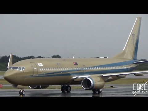 Malaysian Government / Sultan of Johor 737-800BBJ Landing at Manchester Airport