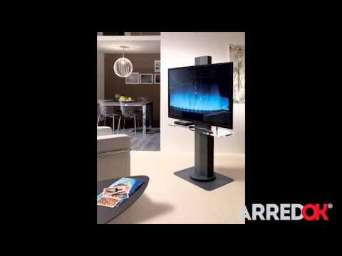 Porta tv orientabile con libreria smart homeplaneur