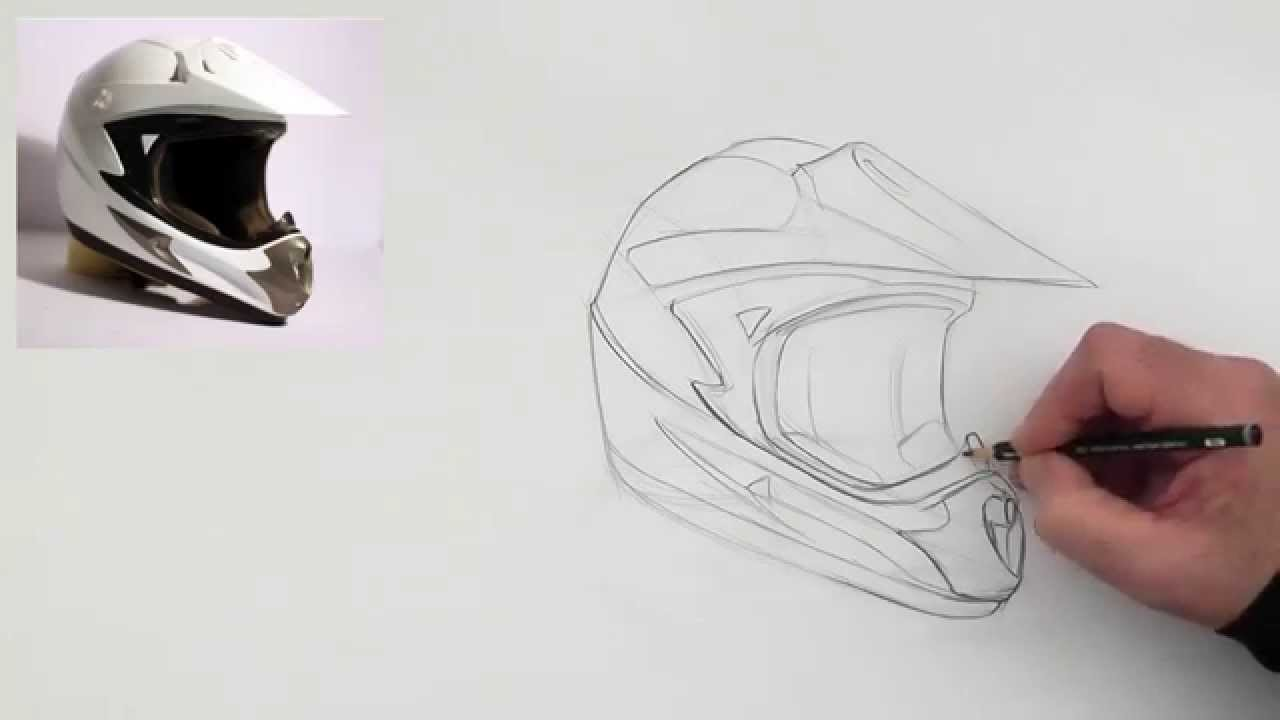 Drawing A Helmet Slow Version Youtube