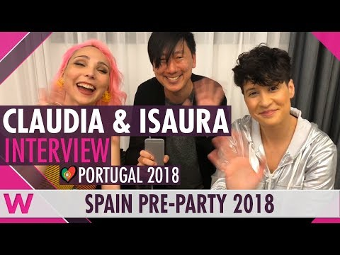 Claudia Pascoal & Isaura (Portugal 2018) Interview   Eurovision Spain PreParty 2018