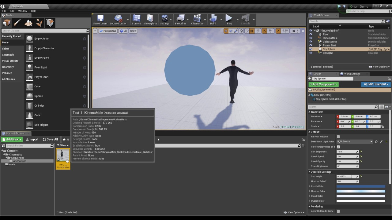 Recording and Exporting Orion Mocap in Unreal Engine