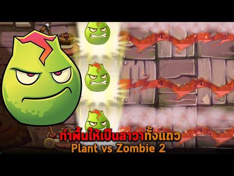 ทำพื้นให้เป็นลาวาทั้งแถว Plant vs Zombie 2