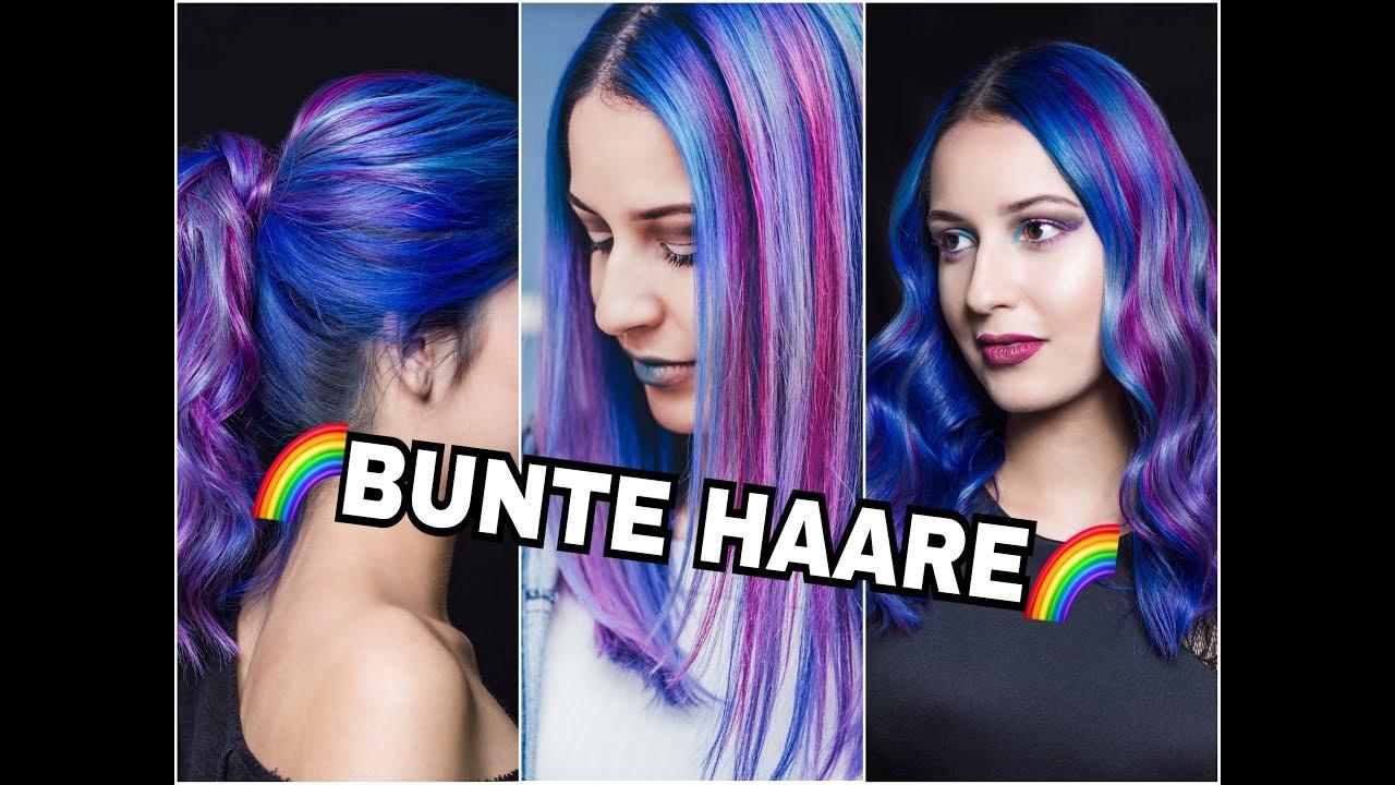 Vibrant Haare Bunt Färben In Blau Violet Pink Türkis Mermaid