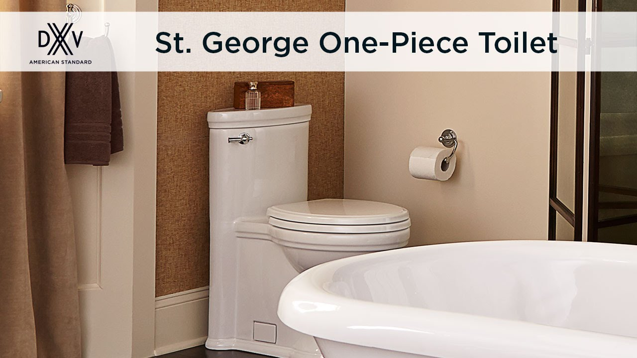 St. George Elongated One-Piece Toilet by DXV - YouTube