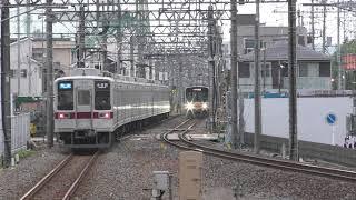 東武10030系若葉駅発車&50090系若葉駅通過