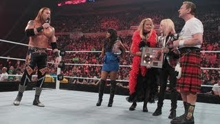 Cyndi Lauper bashes Heath Slater over the head with a record