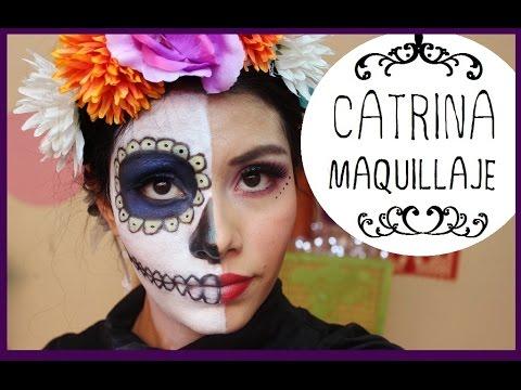Maquillaje Mitad Catrina Mitad Mujer Youtube