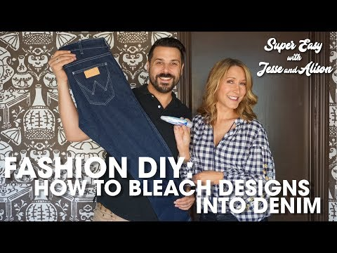 Fashion DIY: How To Bleach Denim Designs