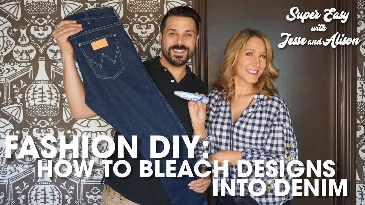 Fashion Diy How To Bleach Denim Designs Youtube