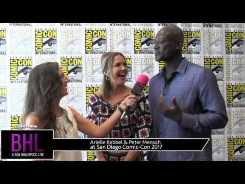 Arielle Kebbel & Peter Mensah Midnight, Texas at San Diego ComicCon 2017
