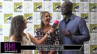 Arielle Kebbel & Peter Mensah (Midnight, Texas) at San Diego Comic-Con 2017