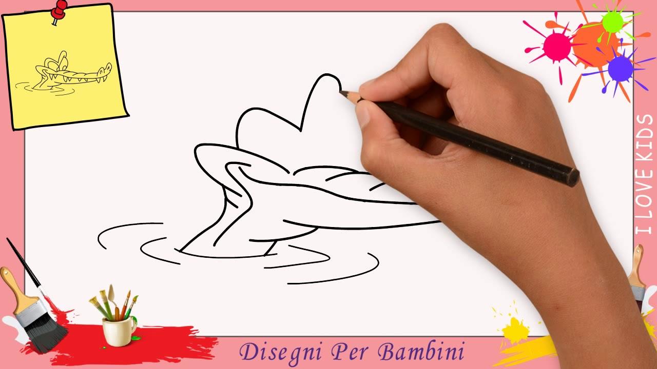 Come Disegnare Un Coccodrillo Facile Passo Per Passo Per Bambini 2