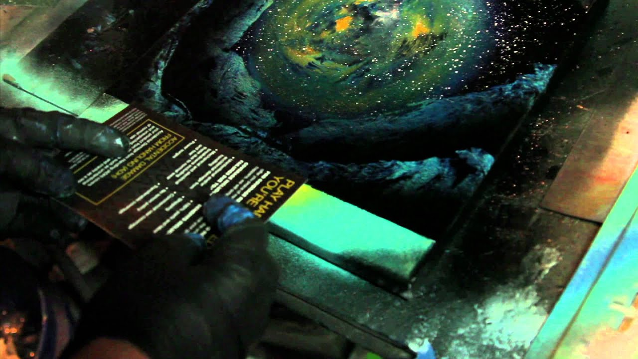tutorial galaxy on canvas w spray paint by markus. Black Bedroom Furniture Sets. Home Design Ideas