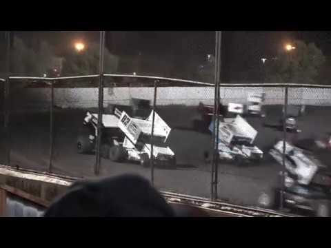 Thrilling 360 Winged Sprint Car Feature Petaluma Speedway 4/28/2018