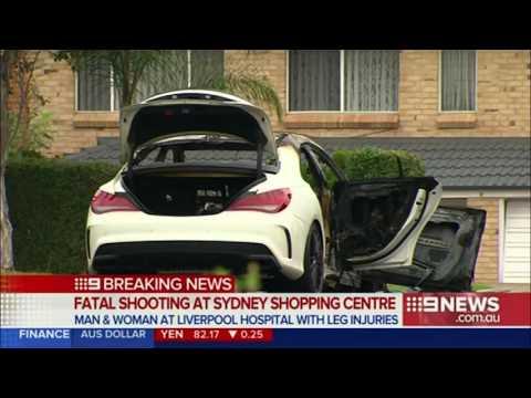 CCTV footage shows alleged Bankstown shooting getaway car