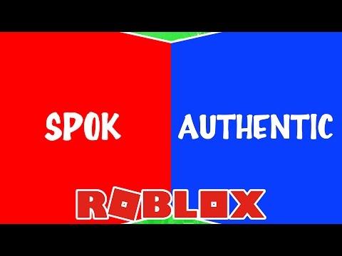 AUTHENTIC ou SPOK - Guerra de  Escolhas Roblox