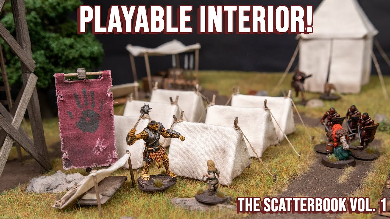 Detailed War Camps for the Discerning Warlord - Tents for D&D.