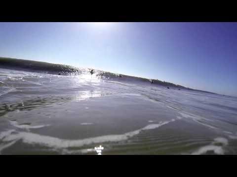 go pro testing in carcavelos Beach Portugal