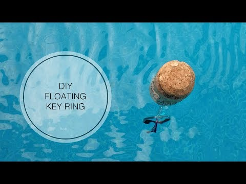 DIY Floating Cork Key Ring