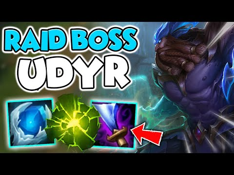 #1 UDYR WORLD SMURFS IN HIGH ELO WITH RAID BOSS UDYR! (NEVER DIE) - League of Legends