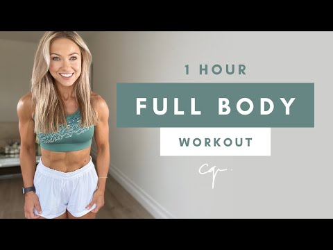 1 Hour FULL BODY WORKOUT at Home | No Equipment & No Jumping
