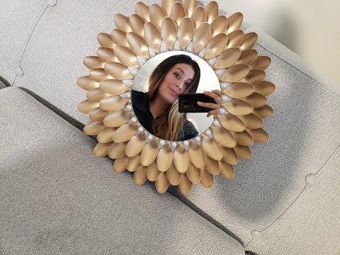Como Decorar Un Espejo con Cucharas Plasticas //How To Make a Mirror With Plastic Spoons ♥