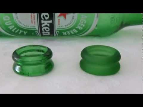 how to put a hole into a glass bottle