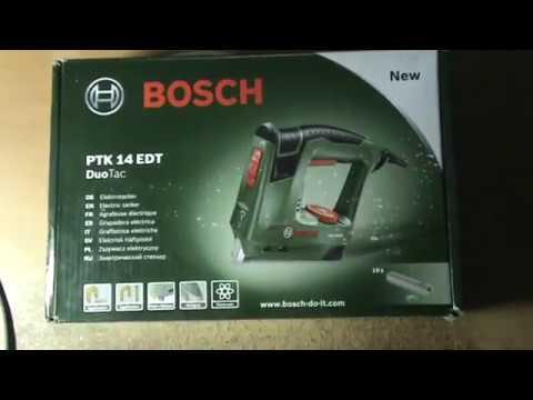 Bosch PTK 14 EDT. Обзор и улучшение электрического степлера