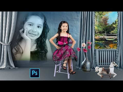 How To Create Background Chang Photo In 8x12 Size In Hindi Photoshop CC Tutorial thumbnail