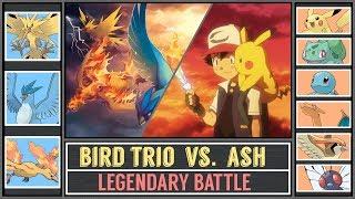 Legendary Bird Trio vs. Ash Ketchum (Pokémon Sun/Moon) - Legendary Kanto Battle