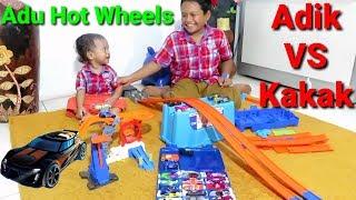 Bikin Track dan Adu Hot Wheels Kakak VS Adik