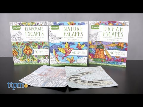 Nature, Elaborate & Dream Escapes Coloring Book from Crayola
