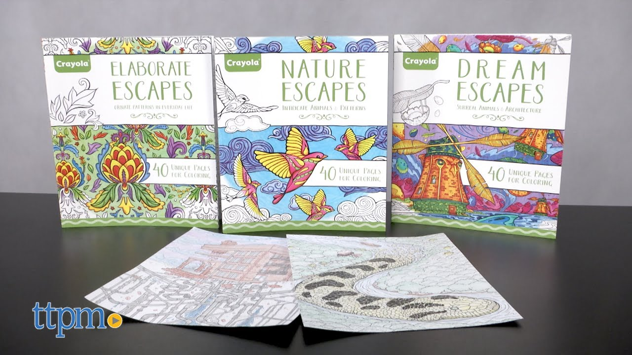 nature elaborate u0026 dream escapes coloring book from crayola youtube