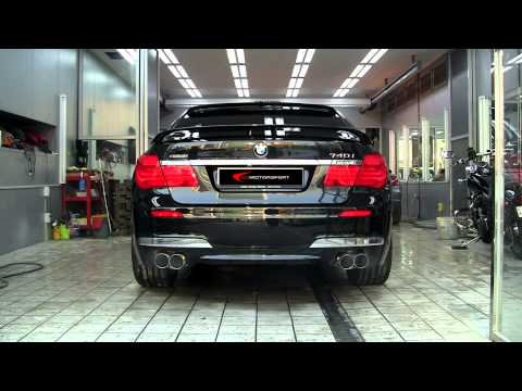 HAMANN Sport Exhuast system with BMW 7series F01/02 740i