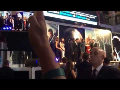 Captain America Cast London Premiere