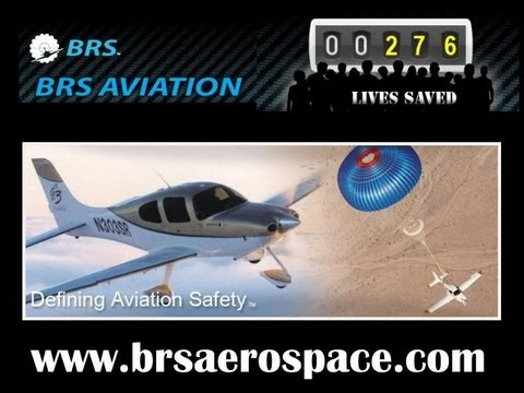 BRS, BRS aircraft parachute system saves pilot and daughter over open water.