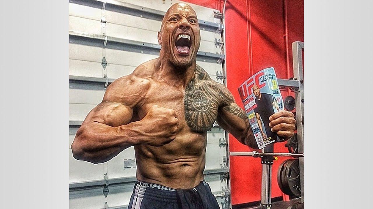 dwayne johnson on steroids
