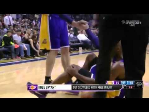 Kobe Bryant's Out With ''KNEE INJURY'' Again!   December 19  2013   NBA 2013 14 Season