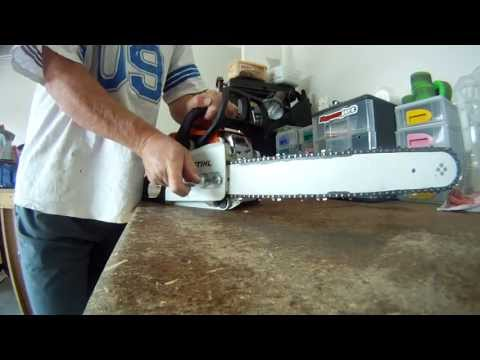 How to change the chain and bar on a Stihl MS170 chainsaw