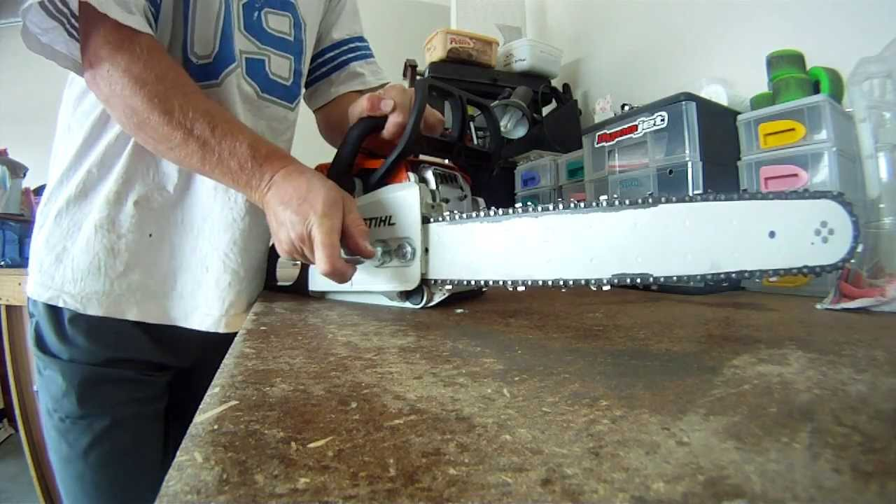 How to change the chain and bar on a stihl ms170 chainsaw youtube greentooth
