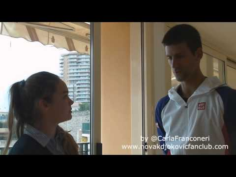 Novak Djokovic exclusive interview with our member Carla