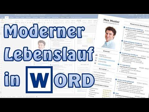 Lebenslauf modern in Word [Bewerbung, Studium, Akademiker, CV, Muster, Beispiel]