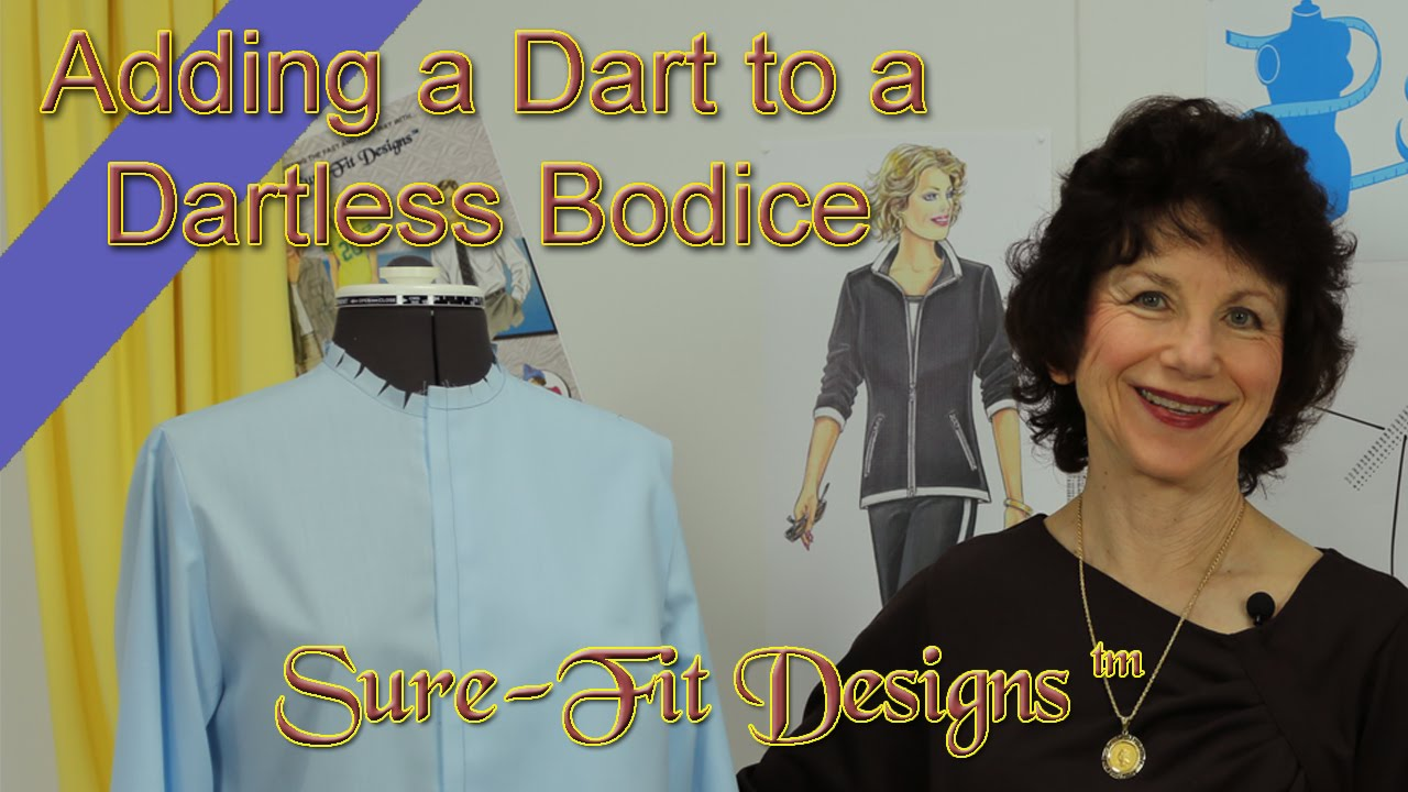 How To Add A Bust Dart By Sure Fit Designs Youtube