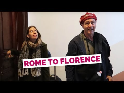 Rome to Florence by Train + Rome Apartment Tour | Italy Travel Vlog