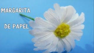 COMO HACER FLOR DE PAPEL/ margarita